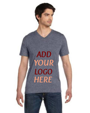 Custom Unisex Made in the USA Jersey Short-Sleeve V-Neck T‑Shirt
