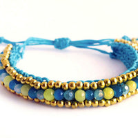 ( JAMUN )  Beaded wrap bracelet. • Lead & nickel free. • Handmade
