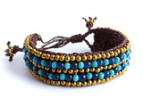 ( KRISHNA )  Beaded wrap bracelet. • Lead & nickel free. • Handmade