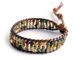 ( TIBET )  Beaded wrap bracelet. • Lead & nickel free. • Handmade