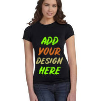 Custom Ladies' Poly-Cotton Short-Sleeve T‑Shirt Bella+Canvas