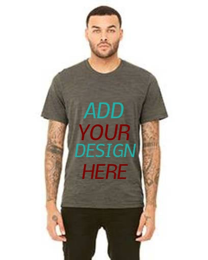 Custom Unisex Poly-Cotton Short-Sleeve T‑Shirt Bella+Canvas