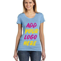 Custom Ladies' Triblend Short-Sleeve T‑Shirt