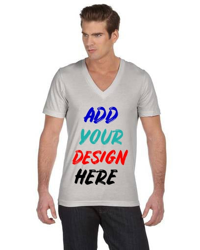 Custom Unisex Jersey Short-Sleeve Deep V-Neck T‑Shirt Bella+Canvas