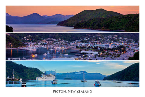 025 - Post Art Postcard - Picton Harbour