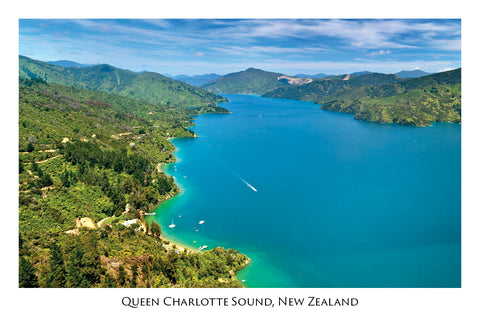 026 - Post Art Postcard - Queen Charlotte Sound