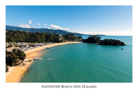 02 - Post Art Postcard - Kaiteriteri Beach