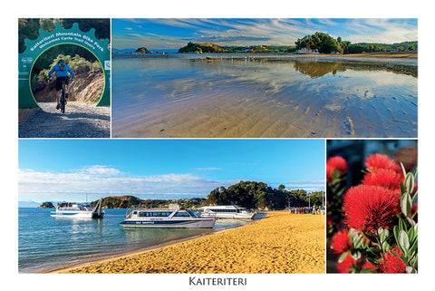 037 - Post Art Postcard - Kaiteriteri Composite