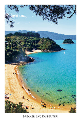 03 - Post Art Postcard - Breaker Bay, Kaiteriteri