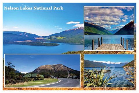 09 - Post Art Postcard - Nelson Lakes Composite