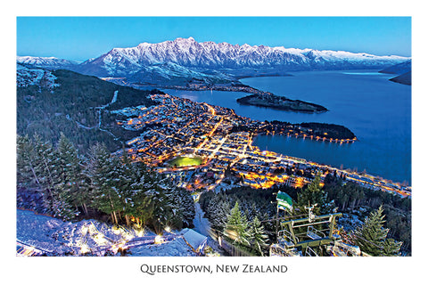104 - Post Art Postcard - Queenstown in the Snow