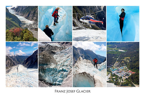 107 - Post Art Postcard - Franz Josef Glacier Composite