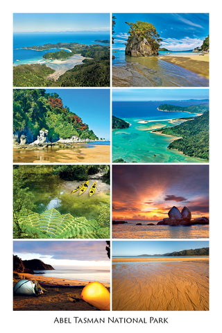 10 - Post Art Postcard - Abel Tasman Composite