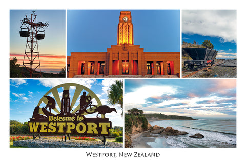 11 - Post Art Postcard - Westport Composite