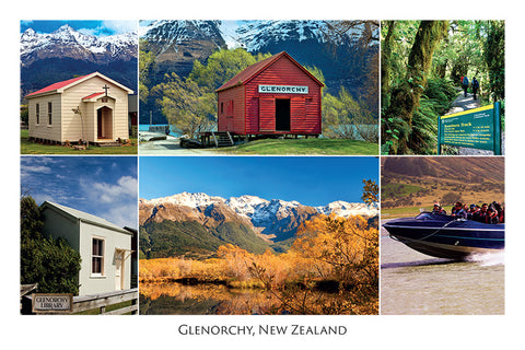 120 - Post Art Postcard - Glenorchy Composite