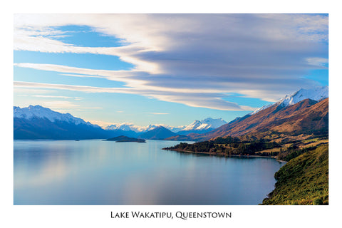 122 - Post Art Postcard - Lake Wakatipu