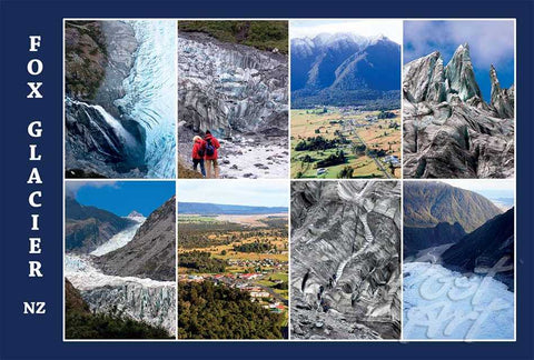 127 - Post Art Postcard - Fox Glacier Composite