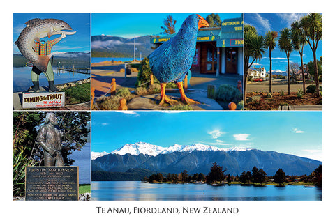 129 - Post Art Postcard - Te Anau Composite