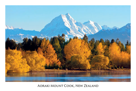 135 - Post Art Postcard - Mt Cook From East Side of lake