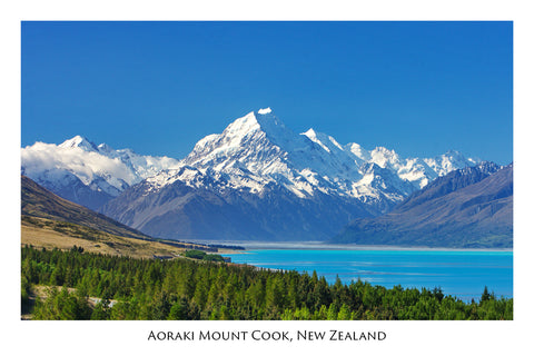 136 - Post Art Postcard - Lake Pukaki Mt Cook