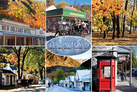 138 - Post Art Postcard - Arrowtown Composite