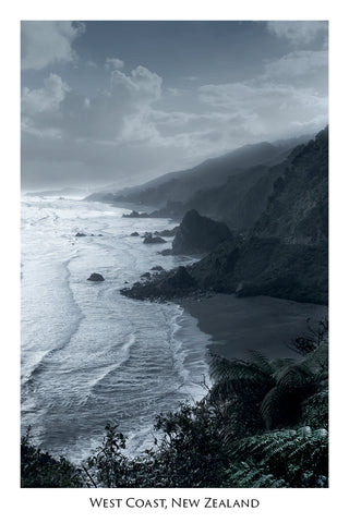 14 - Post Art Postcard - New Misty West Coast