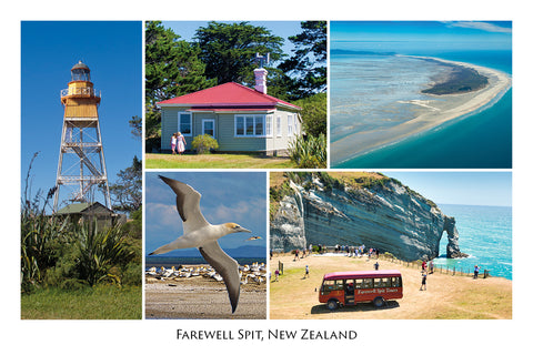 153 - Post Art Postcard - Farewell Spit Composite