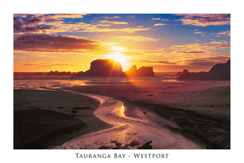 15 - Post Art Postcard - Tauranga Bay, Westport