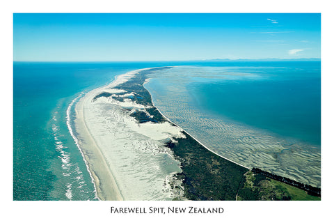 163 - Post Art Postcard - Farewell Spit, Golden Bay
