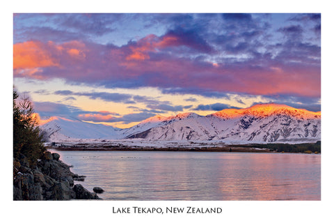 172 - Post Art Postcard - Lake Tekapo  Sunset