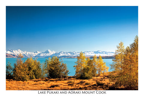 190 - Post Art Postcard - Lake Pukaki