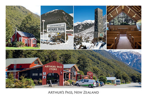 198 - Post Art Postcard - Arthur's Pass Composite