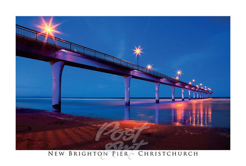 206 - Post Art Postcard - New Brighton Pier