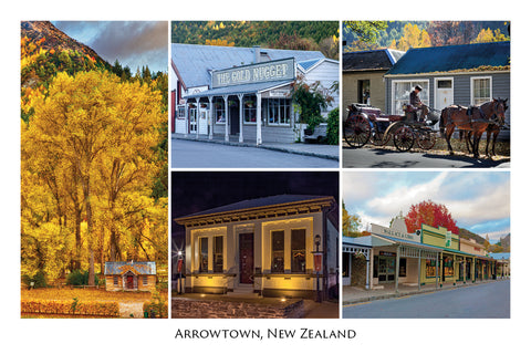 214 - Post Art Postcard - Arrowtown Houses