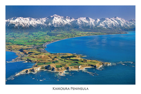 215 - Post Art Postcard - Kaikoura Peninsula