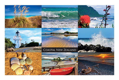 216 - Post Art Postcard - Coastal New Zealand