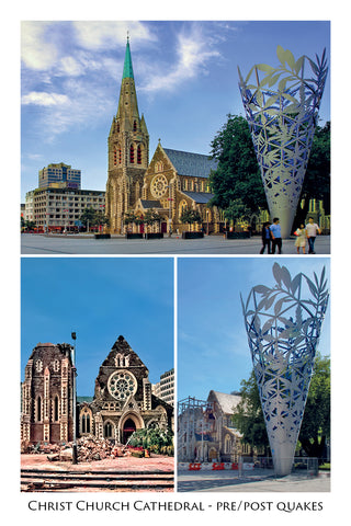 220 - Post Art Postcard - Christchurch Cathedral