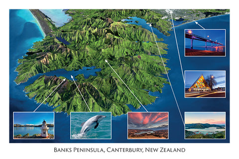221 - Post Art Postcard - Nasa Banks Peninsula