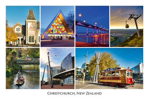 235 - Post Art Postcard - Christchurch Composite