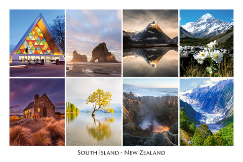247 - Post Art Postcard - South Island Composite