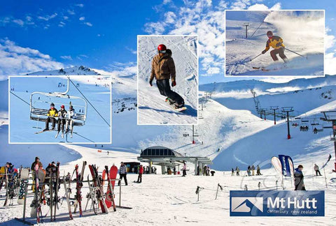 257 - Post Art Postcard - Mt Hutt Composite