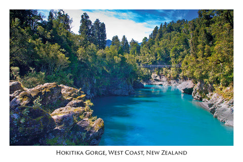 265 - Post Art Postcard - Hokitika Gorge