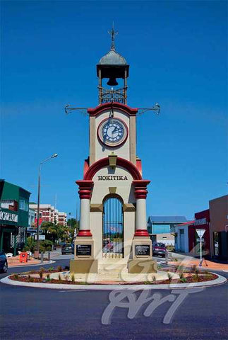 266 - Post Art Postcard - Hokitika Clock Tower