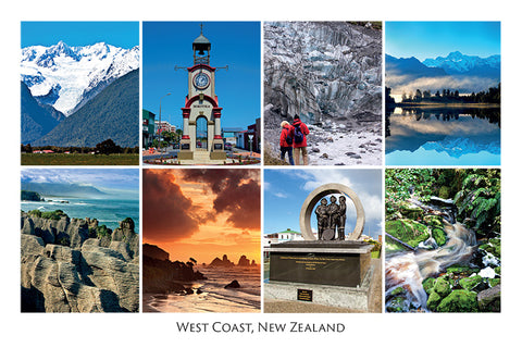 268 - Post Art Postcard - West Coast Composite