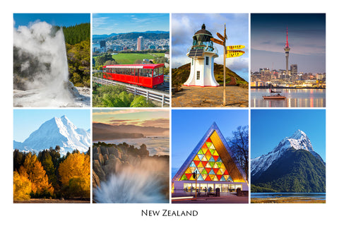 270 - Post Art Postcard - New Zealand Composite