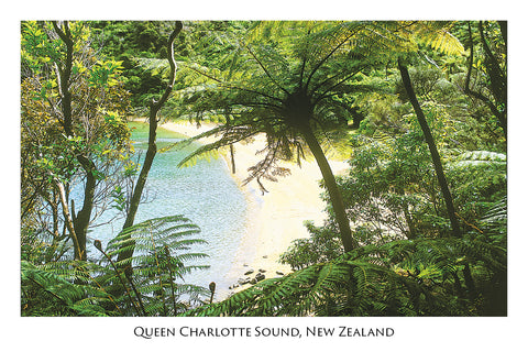 35 - Post Art Postcard - Queen Charlotte Sound
