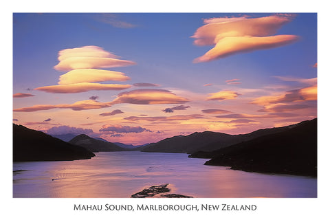 39 - Post Art Postcard - Mahau Sound, Marlborough