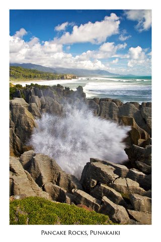 43 - Post Art Postcard - Blow Holes Punakaiki