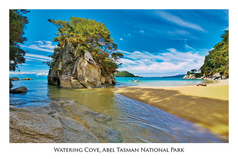 4 - Post Art Postcard - Watering Cove, Able Tasman