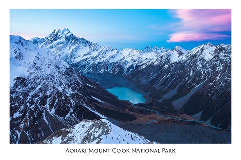 510 - Post Art Postcard - Aoraki / Mount Cook